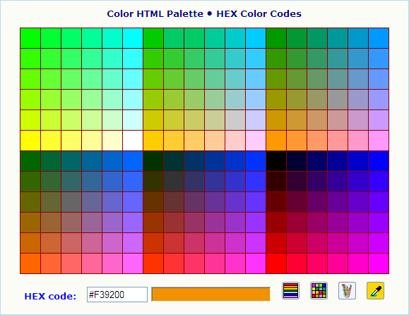Online Color Code Generators